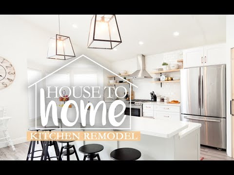 The BIG Kitchen Remodel, Before and After   DIY    House to Home Episode 5