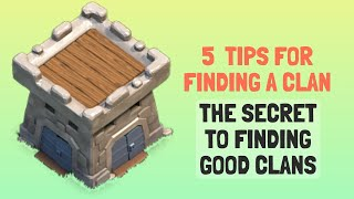How to Find Good Clans in Clash of Clans | Good Clans in coc
