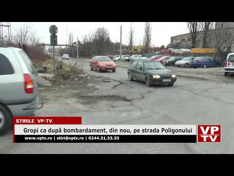 Gropi ca după bombardament, din nou, pe strada Poligonului