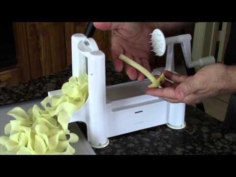 paderno spiral vegetable slicer instructions