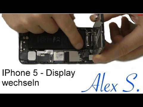 IPhone 5 Display wechseln, tauschen, umbau Frontkamera, sensoren, Homebutton, Touchscreen, Deutsch