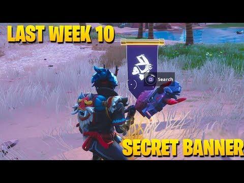 Secret Banner Week 10 Season 6 Location Fortnite Battle Royale Week