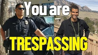 OFFICER DETAINS CITIZEN FOR TRESPASSING AT HIS OWN HOME