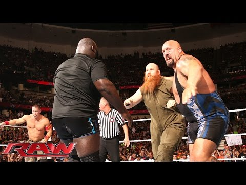 John Cena, Big Show & Mark Henry vs. The Wyatt Family: Raw, Aug. 25, 2014