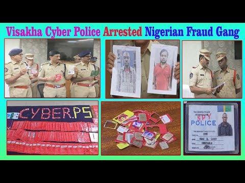 Vizag Cyber Police Arrested Nigerian Fraud Gang Gift Frad through Facebook Friendship Visakhapatnam.