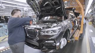 Так собирают новый БМВ X4 в США.Assembling a car BMW X4.USA