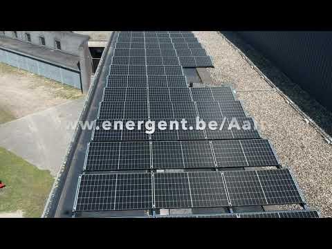 Zonnepaneelinstallatie op sportpark Aalter