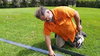 How to install Steelscape garden edging