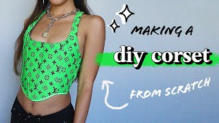 DIY Trendy Corset Top Tutorial! *highly Requested* | Nava Rose