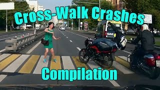 WORST Cross Walk Accidents and CLOSE CALLS - BEST Compilation