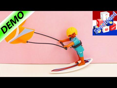 Playmobil Paasei 6838 Kitesurfer Sports and Action serie met surfplank