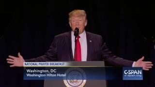 President Trump complete remarks at National Prayer Breakfast (C-SPAN)