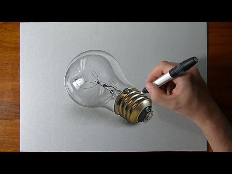 lightbulb(how to) drawing video tutorial by marcello barenghi