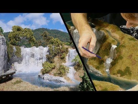 Luke Towan builds a waterfall