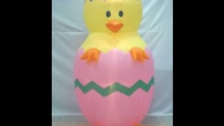 7ft RARE Easter chick Inflatable Review