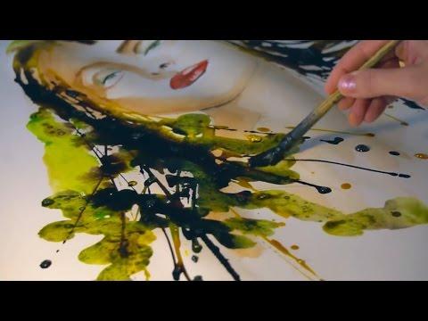 Sennelier Coloured Inks with Anka Matei