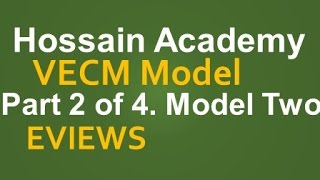 VECM. Model Two. Part 2 of 4. EVIEWS