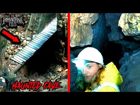 Exploring The Haunted Apache Death Cave At Night