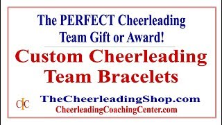 Custom Cheerleading Bracelets For Your Team - The Perfect Cheerleading Gifts!