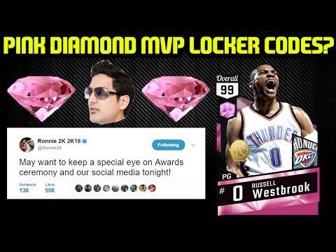 PINK DIAMOND WESTBROOK MVP LOCKER CODES INCOMING? NBA 2K17 MYTEAM