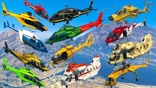 GTA V: Every Helicopters Test Flight Gameplay