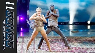 "Jessica Richens & Marcquet Hill ""Funkier Than A Mosquito's Tweeter"" - SYTYCD 11 Ep8 Top 18"