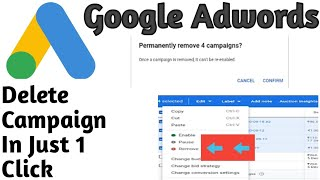 How To Delete Google Ads Campaign | How To Remove Adwords Campaign | How To Delete adwords Campaign