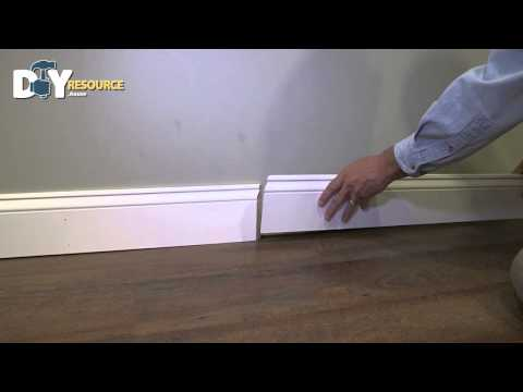 Use a Scarf Joint to Join Baseboard Molding