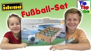 Idena Tisch Fußball Set Spielzeug auspacken aufbauen und Fussball spielen Ash und Max Kinderkanal