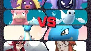 Cloyster  - (Pokémon) - Pokémon GO Gym Battles Elite Four Lorelei Theme Lapras Cloyster Slowbro Dewgong Jynx & more