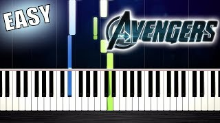 The Avengers - Theme Song - EASY Piano Tutorial by PlutaX