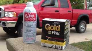 HOW TO REPLACE CUMMINS FUEL FILTER with SEA FOAM