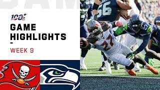 Buccaneers vs. Seahawks Week 9 Highlights | NFL 2019