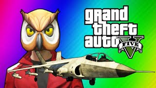 GTA 5 Online Funny Moments - Hydra Jet Fun, Delirious's Battle Gear, Owl Tree!