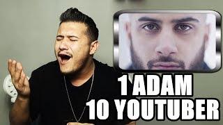 1 ADAM 10 YOUTUBER (Reynmen,Enes Batur,Oğuzhan Uğur )