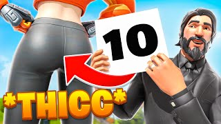 *THICC* Fortnite Fashion Show! Skin Competition! | THICCEST DRIP, COMBO & EMOTES WINS!