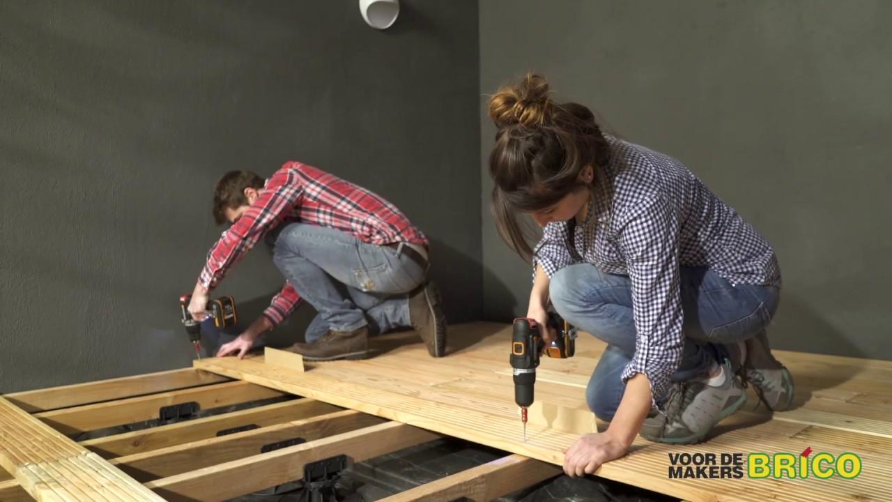 Je eigen houten terras maken brico voor de makers