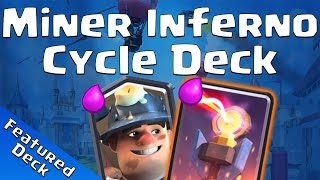 Clash Royale: Miner Inferno Cycle Deck Feature - CRNAO