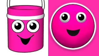 """""""The Paint is Pink""""   3D Kids Nursery Song, Teach Babies Colors, Toddler Colour Learning"""