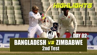 Bangladesh vs Zimbabwe Highlights || 2nd Test || Day 2 || Zimbabwe tour of Bangladesh 2018