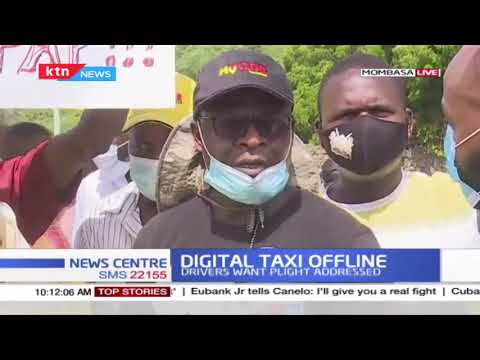 Digital cab drivers protest over low rates