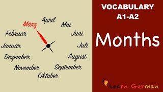 Learn German Vocabulary - Months in German (Monate)