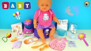 Играем пупсиком Беби Готовим для малыша, кормим, учимся одевать памперс. Видео для девочек!