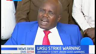 UASU gives warning of going on strike to Education ministry over CBA agreement