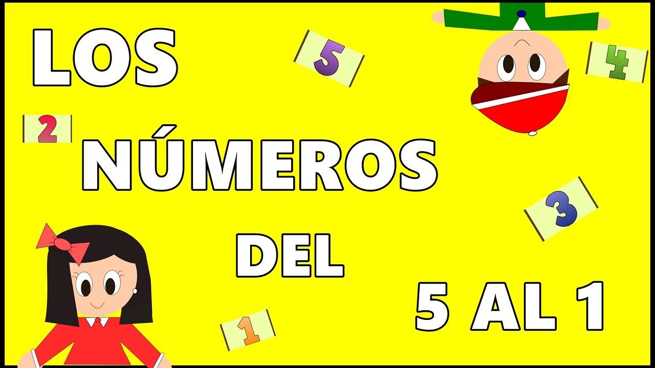 Contar de 5 a 1 - Los Números - Cuenta Atrás - Numbers in Spanish - Vídeos educativos para  Niños
