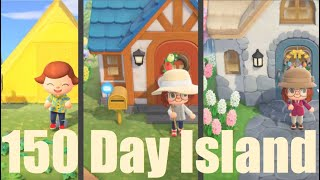 150 Days in 30 Minutes | My Island's Evolution in Animal Crossing: New Horizons