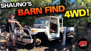 THIS 4WD HASN'T RUN IN 19 YEARS… Will it start? Shauno's Barn Find Toyota LandCruiser 40 series!