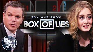 Tonight Show Box of Lies with Matt DamonandAdele