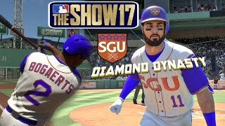 MLB The Show 17 Diamond Dynasty with SGU EP1 Team Creation 20 Pack Opening & First Game MLB 17