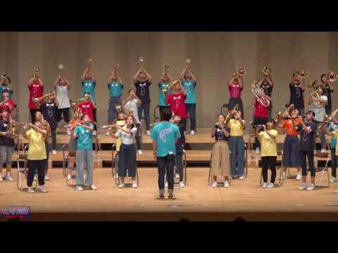 八幡中学校ブラスティYAWATA「ワタリドリ」「ピースサイン」他 / 楽器を楽しむ日2019